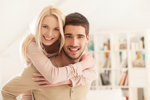 Moving and storage companies help newlyweds move in together.