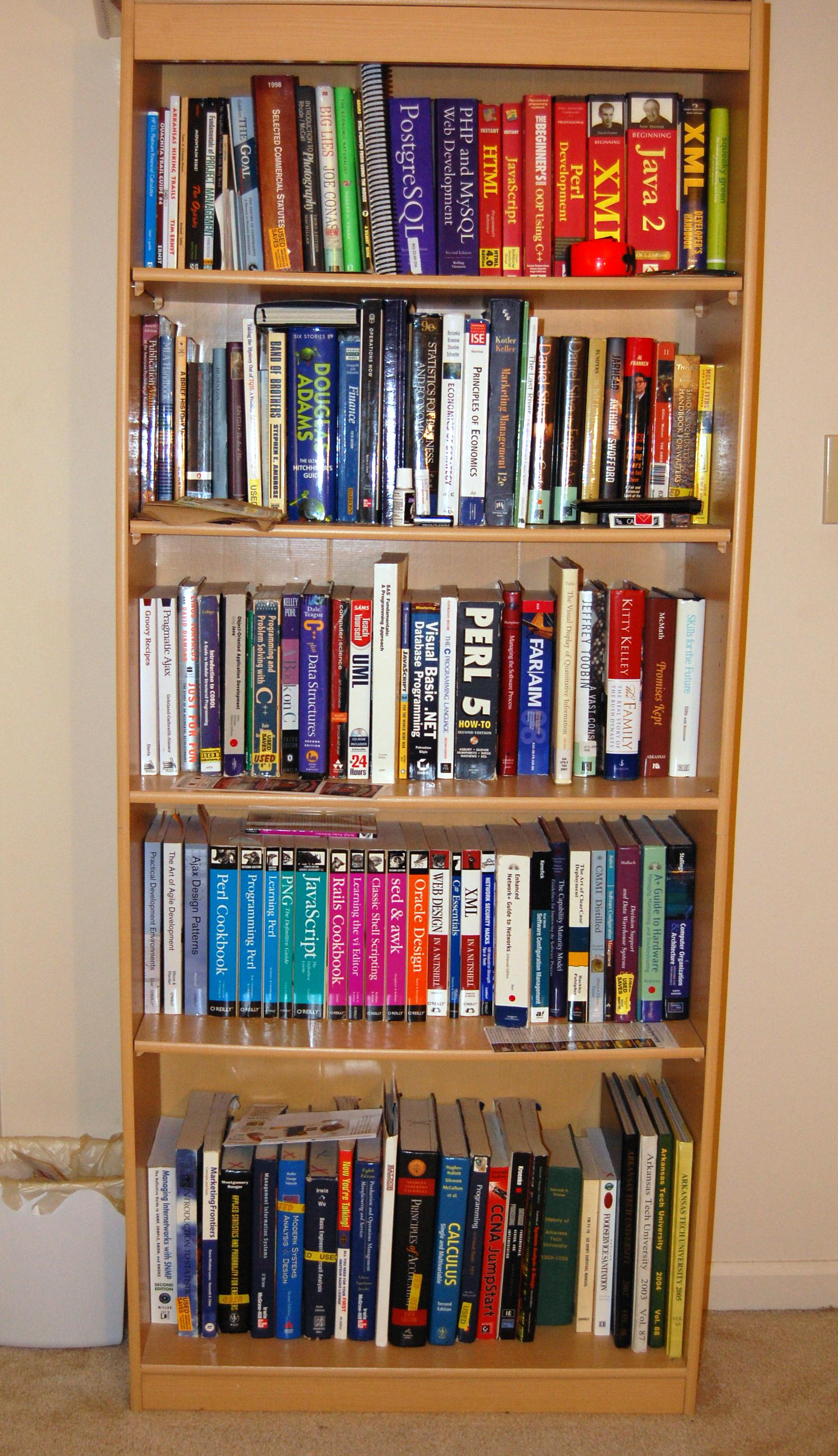 One Large Bookshelf