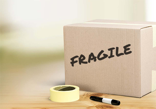 Labeling Fragile Box